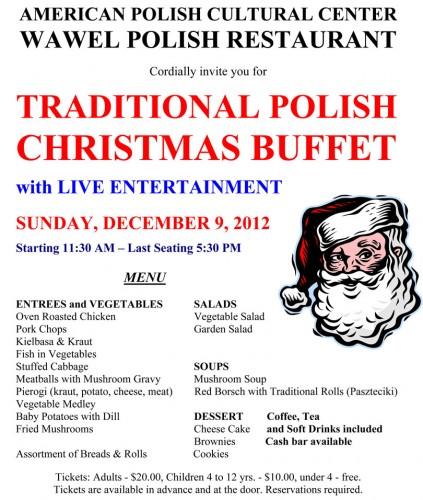 Traditional Polish Christmas Buffet December 9 2012