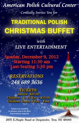 Traditional Polish Christmas Buffet Sunday December 9 2012