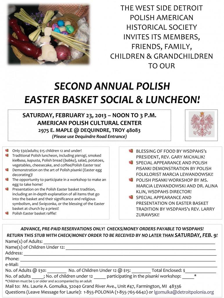 Easter Basket Social 2013