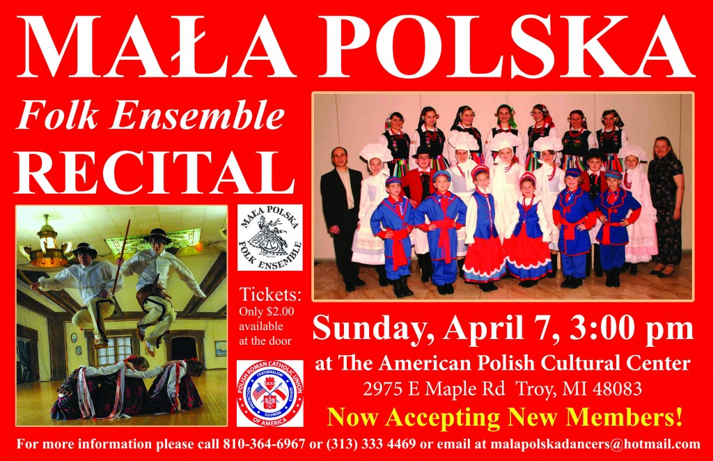 Mala Polska Recital 2013 - Poster