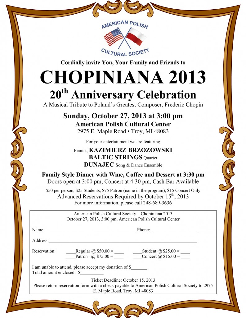 Chopiniana 2013 - Invitation