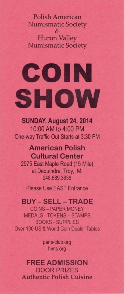 Coin Show 1 - August 2014