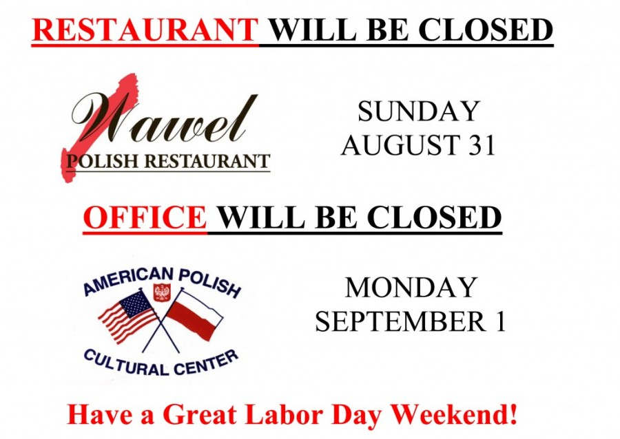 Restaurant Amp Office Will Be Closed August 31th September