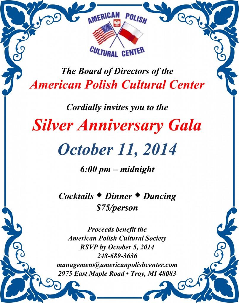 APCC 25th Anniversary  Invitation