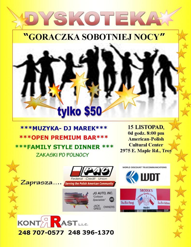 Goraczka Sobotniej Nocy - Listopad 2014