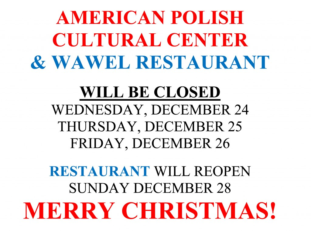 Holiday Closing - Christmas