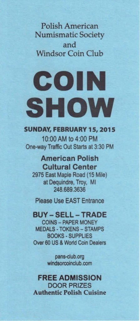 Coin Show 1 - February 2015