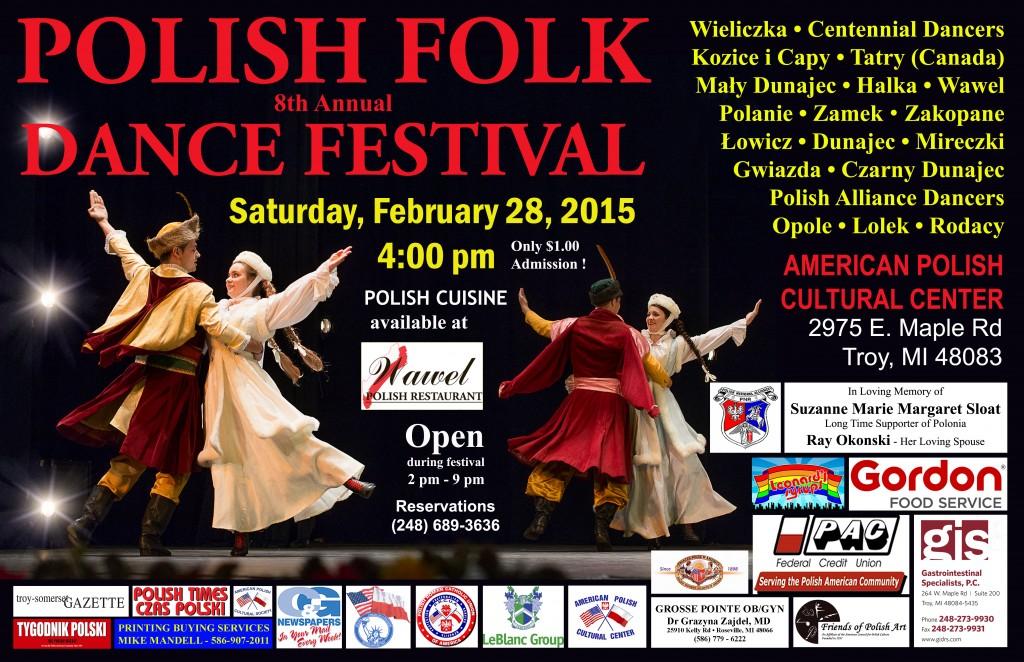 Polish Folk Dance Festival 2015 - Poster