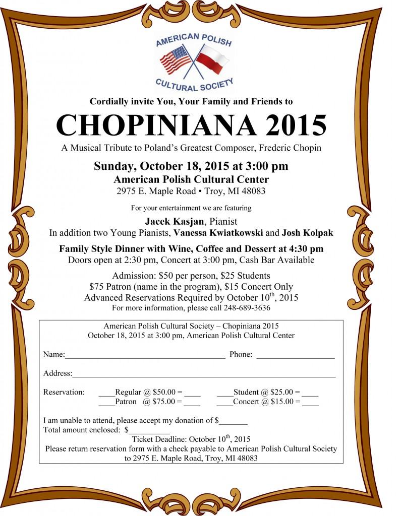 Chopiniana 2015 - Invitation