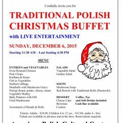 Christmas Buffet 2015 - Menu