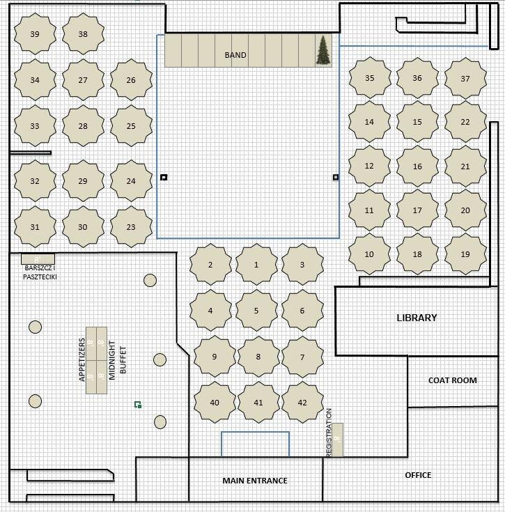 NEW YEARS EVE FLOOR PLAN MAIN HALL