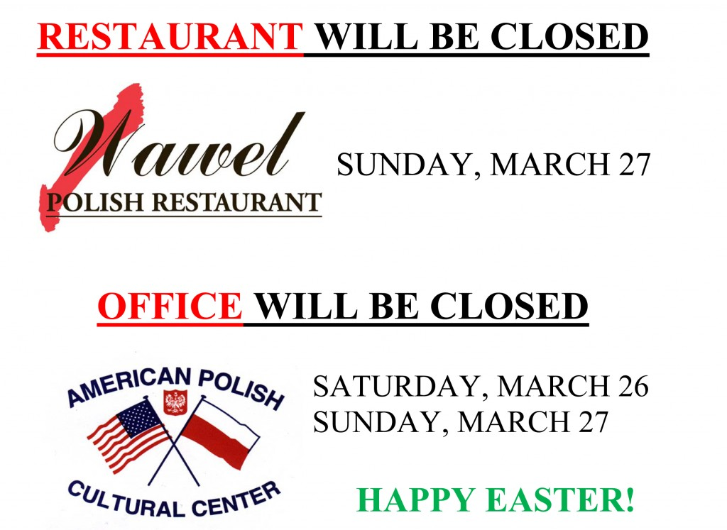 Easter Closing 2016