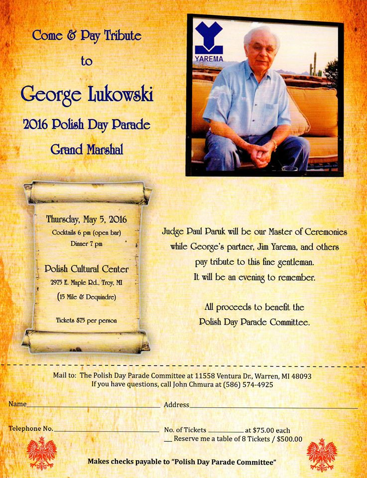 Tribute to George Lukowski 2016