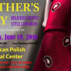 FATHER'S DAY BUFFET: Sunday, June 19, 2016