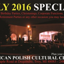 July 2016 Banquet Special