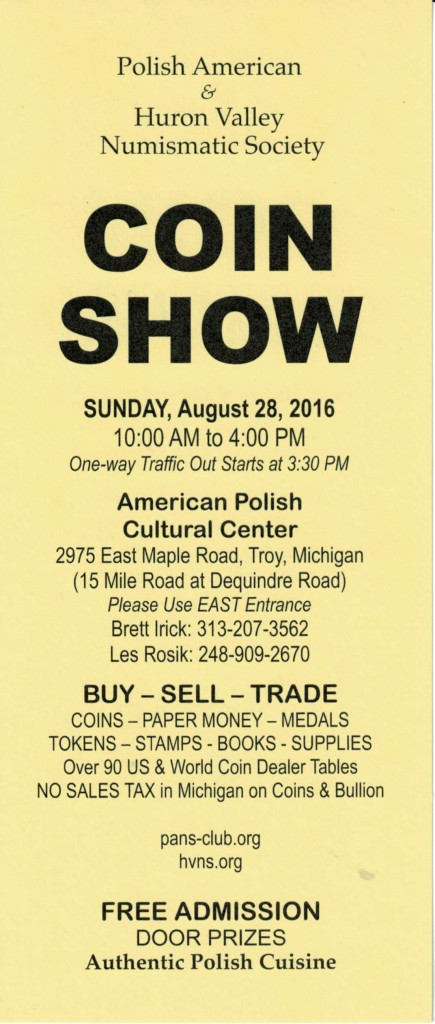 Coin Show 2 - August 2016