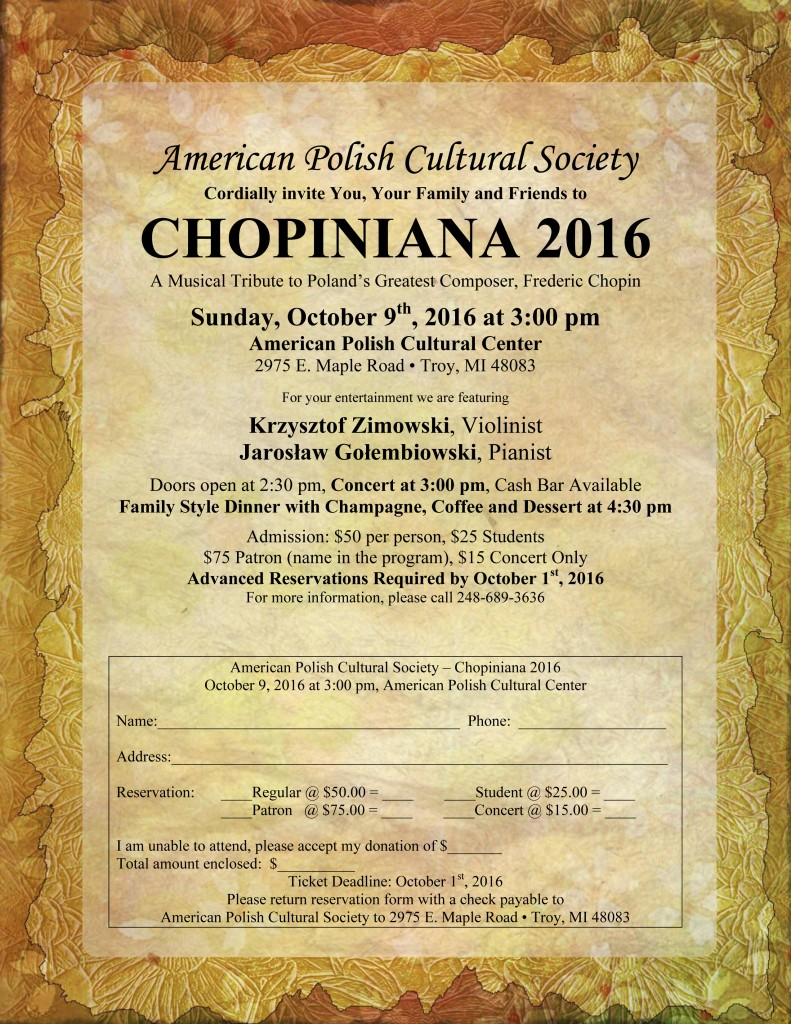 Chopiniana 2016 - Invitation