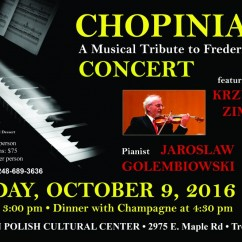 CHOPINIANA 2016: Sunday, October 9 at 3:00 pm