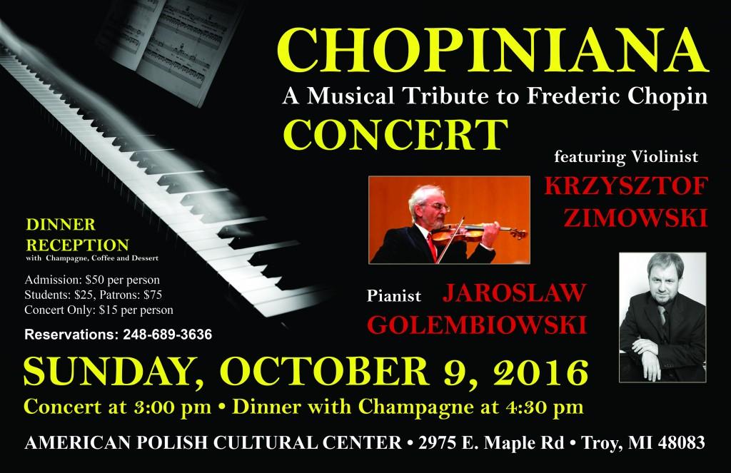 Chopiniana 2016 - Poster