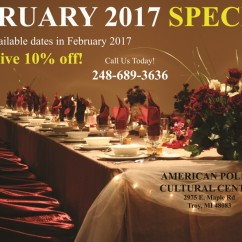 FEBRUARY 2017 SPECIAL! Book any available dates in February 2017 and receive 10% off!