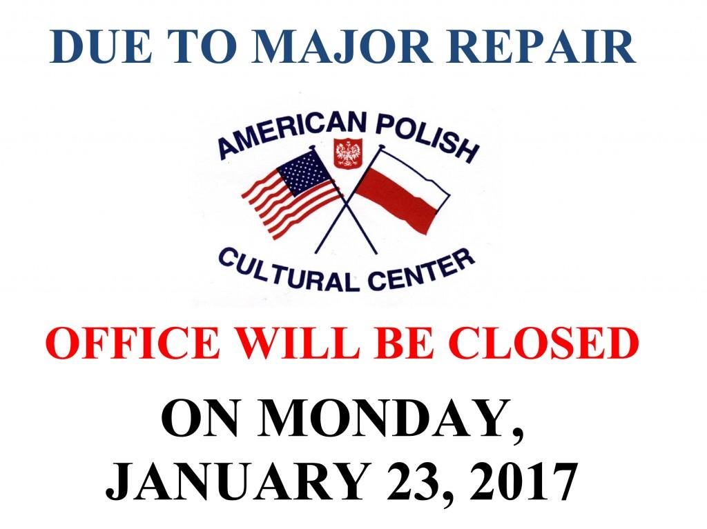 Closing - Major Repair