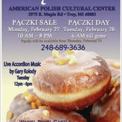 PACZKI SALE & PACZKI DAY: Monday & Tuesday, February 27 & 28, 2017