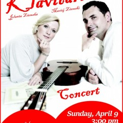 DUO CLAVITARRE CONCERT: Sunday, April 9, 2017, 3:00 pm