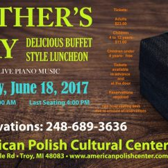 FATHER'S DAY BUFFET: Sunday, June 18, 2017