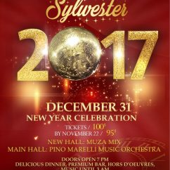 NEW YEAR'S EVE PARTY – Tickets only $95 per person by November 22, 2017