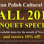 Fall 2018 Banquet Special!