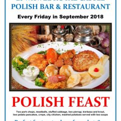 FIESTA SPECIAL – Every Friday in September 2018 at Wawel Polish Restaurant