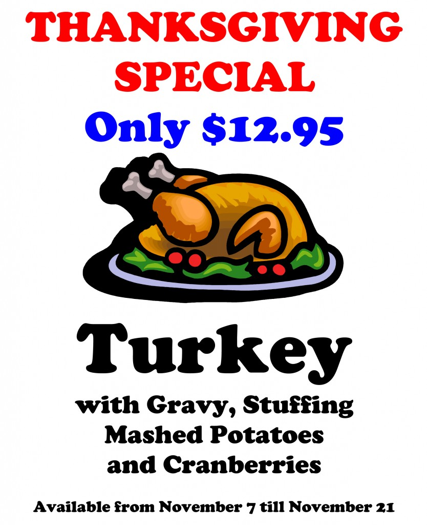Thanksgiving Special Available From November 7 Till